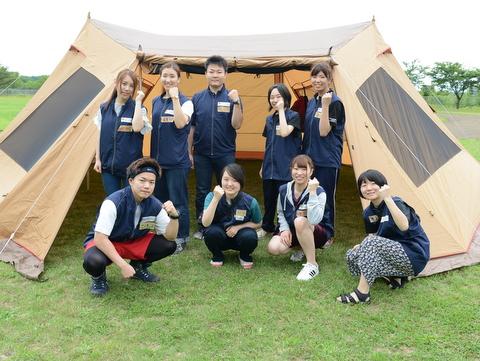 テント設営④